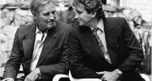 Actor Charlton Heston  with his son Fraser in Dublin. Is it tough being the son of a Hollywood icon? Photograph: Frank Miller