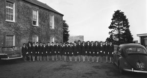 Newly graduated Aer Lingus air hostesses  on January 24th, 1968, at Dublin Airport. Photograph:  Kevin McMahon