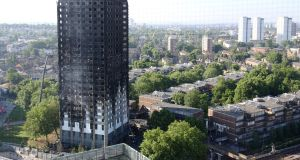 A public inquiry into the Grenfell Tower fire in London that killed at least 80 people in June held its first session on Thursday. Photograph:  Rick Findler/PA Wire
