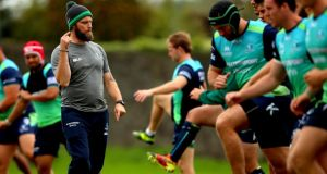 Connacht head of athletic performance David Howard during training this week. Photograph: Inpho