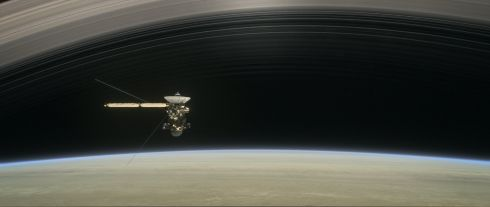 An undated image released by Nasa on August 14th, 2017, shows an artist's rendering of Cassini as the spacecraft makes one of its final five dives through Saturn's upper atmosphere in August and September 2017. The spacecraft will end its expedition on September 15th, 2017, following a series of 22 dives through the 2,400km gap between Saturn and its rings, with a final plunge into the gas giant. The operation aims at gaining insights into the planet's structure and atmosphere as well as at capturing views of its inner rings. Nasa''s Cassini spacecraft is in orbit around Saturn since 2004.  Image: EPA/Nasa/JPL-Caltech