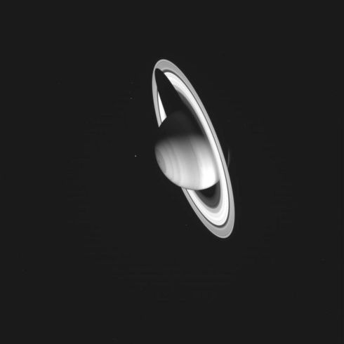 "An image taken by the Cassini spacecraft on July 3rd, 2004, shows Saturn casting a shadow over its rings. The camera is some 1,513,849km away from the planet. Cassini was launched nearly seven years ago by  a joint project of Nasa and the European and Italian space agencies. It became the first spacecraft to orbit Saturn and its rings and moons after an ""orbit insertion"" manoeuvre.  Photograph: Reuters/Courtesy Nasa/JPL-Caltech"