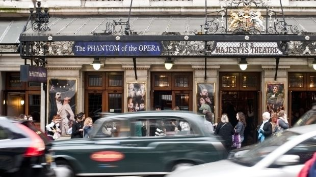 Take a break in London and head to Her Majesty's Theatre in Haymarket, where Phantom of the Opera is currently playing
