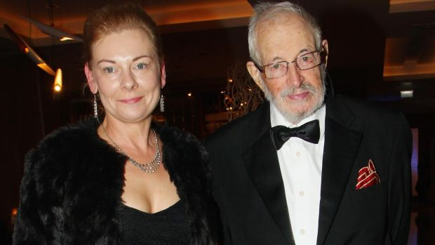 Fran Cunningham and JP Donleavy at the Irish Book Awards in November 2015 in Dublin, where he received a Lifetime Achievment Award. Photograph: Phillip Massey/Getty Images