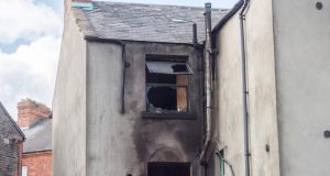 Badly fire-damaged: No 34 Grove Park, a period house,  contains three floors and is understood to be divided into eight flats. Photograph: Brenda Fitzsimons/The Irish Times