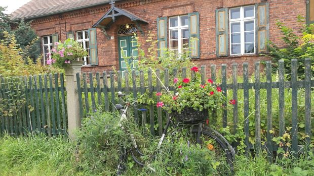 Freebird Club member Ilona Pflaumbaum stayed at this old rectory house in Buckau in Germany.
