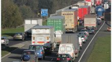 Traffic on the M50.