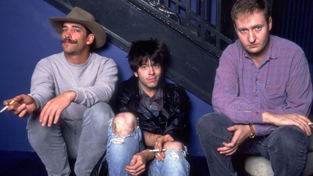 Greg Norton, Grant Hart and Bob Mould of Hüsker Dü in 1987. Photograph: Paul Natkin/WireImage