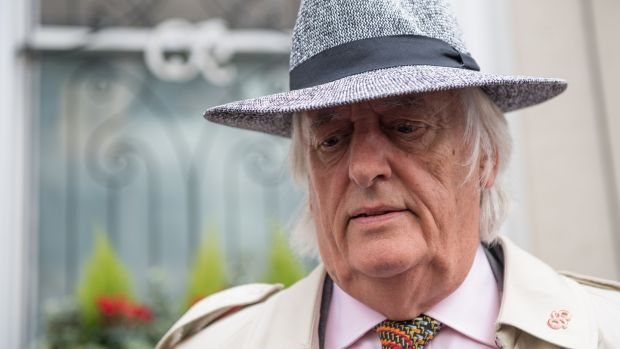 Barrister Michael Mansfield, representing some victims of the Grenfell Tower fire disaster, leaves after attending the opening statements of the Inquiry into the Grenfell Tower fire disaster in London on September 14th, 2017. Photograph: Chris J Ratcliffe/AFP/Getty Images