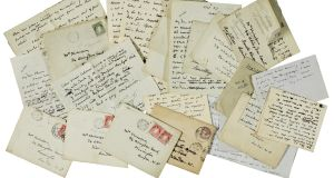 Letters included in Sotheby's sale of items from the Yeats family collection.