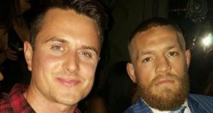 Patrick Greene with UFC champion Conor McGregor in 2016. Photograph: Instagram