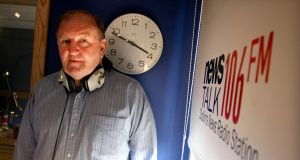 Broadcaster George Hook in his Newstalk studio