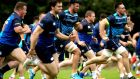 The Leinster squad during a training session this week in UCD, Dublin. Photograph: Ryan Byrne/Inpho