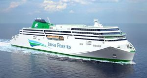 The new Irish Ferries ship, which cost €144m – a big boat that needs a big name – and the public is being asked to choose it