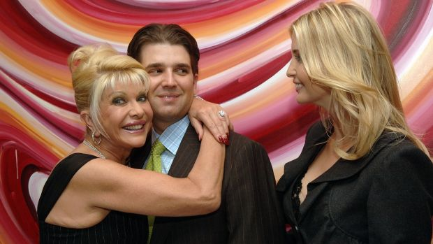 Ivana Trump with Donald Trump jnr and Ivanka Trump, in October 2007. Photograph: Duffy-Marie Arnoult/WireImage