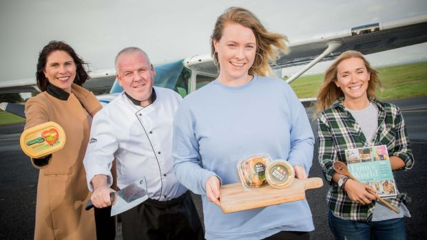 Ready for take-off: Karen McGarty, Lee Mastin, Carolanne Rushe and Finn Ni Fhaolain at the launch of the Strandhill Food Festival