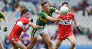 Kerry's David Clifford  in action against Derry last year. Photograph: Tommy Greally/Inpho