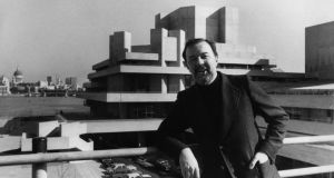 Peter Hall: the late director at the National Theatre  in London in March 1976, just before its first public performance. Photograph: Dennis Oulds/Central/Getty