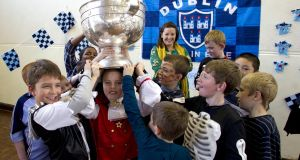 Classroom visits by All-Ireland winners a still effective strategy for improving participation levels among school children. Photograph: Colm O'Neill/Inpho