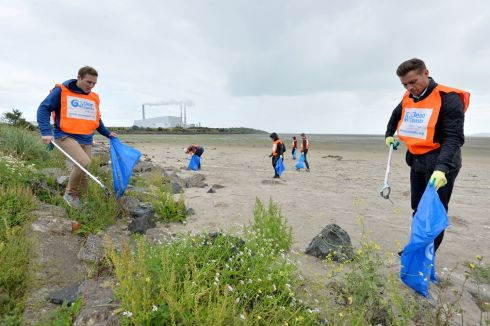 BIG BEACH CLEAN: Volunteers participate in An Taisce's Clean Coasts Big Beach Clean at Sandymount in Dublin. More than 120 beach clean-ups are to take place around Ireland over the weekend. Photograph: Alan Betson/The Irish Times