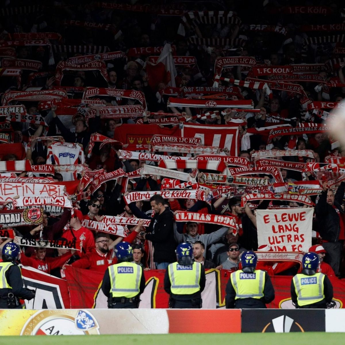 Cologne fans bought Arsenal tickets from club members and exchange sites