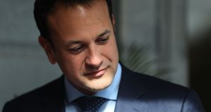 Taoiseach Leo Varadkar  at Hotel Minella in Clonmel, where the Fine Gael think-in took place ahead of the resumption of the Dáil next week. Photograph: Brian Lawless/PA Wire