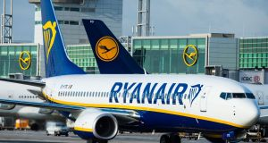 Among Ryanair's cancellations yesterday and today were 17 flights in and out of Dublin Airport. Photograph: Andreas Arnold/AFP/Getty Images
