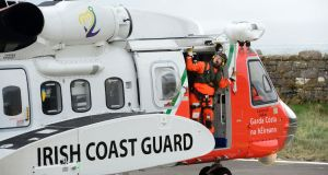 The Irish Coast Gaurd is searching for a man reported missing off the Co Clare coast. Photograph: Dara Mac Dónaill/File