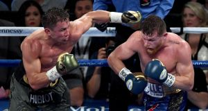 Gennady Golovkin and  Canelo Alvarez couldn't be split in Las Vegas. Photograph: Ethan Miller/Getty