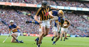 "Tipperary's Lar Corbett and Kilkenny's Jackie Tyrrell during the 2011 All-Ireland Senior Championship Final. In his autobiography, Tyrrell gives a very honest account of the extent he went to ""to drive Lar mad"". Photograph: Cathal Noonan/Inpho"