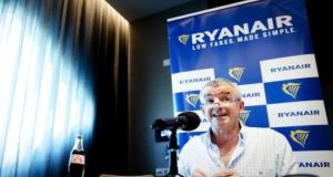 "Ryanair chief executive Michael O'Leary: A request for comment from Ryanair in relation to the timing of the cancellations  met with no response other than one that referred to them being due to bad weather, air traffic controller difficulties, and the impact of changing crews' ""annual leave"" rosters. File photograph: Getty Images"
