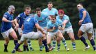 Garryowen's Neil Cronin in action  during his side's 7-13 loss to St Mary's College. Photograph: Oisin Keniry/Inpho