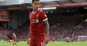 "Liverpool's Philippe Coutinho: ""Liverpool is a great club worldwide. I'm here and I will give my best as always."" Photograph: Peter Byrne/PA Wire"