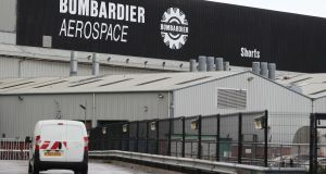 The Bombardier  plant in Belfast. The Canadian aerospace giant confirmed 95 redundancies in the North as part of its global restructuring programme. Photograph:  PA Wire