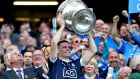 Dublin captain  Stephen Cluxton lifts the Sam Maguire Cup after the All-Ireland football final win over Mayo. Photograph: James Crombie/Inpho