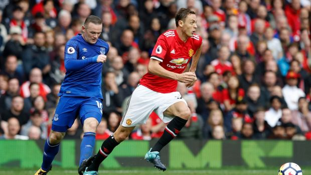Wayne Rooney (L) endured a frustrating return to Old Trafford. Photograph: Martin Rickett/PA