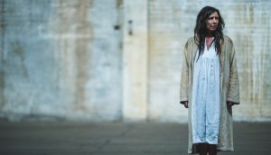 An actor with the Blue Raincoat theatre company, which is staging three Beckett plays in disused former factory in Sligo. Photograph: Peter Martin