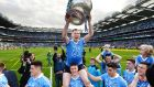 JOY: Philly McMahon on the shoulders of John Small after Dublin beat Mayo in the All Ireland senior football championship final at Croke Park. Photograph: Dara Mac Donaill/The Irish Times