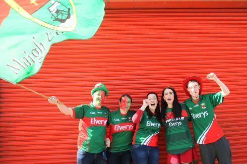 HAPPIER TIMES: Mayo supporters ahead of the All-Ireland football final at Croke Park. Photograph: Brian Lawless/PA Wire