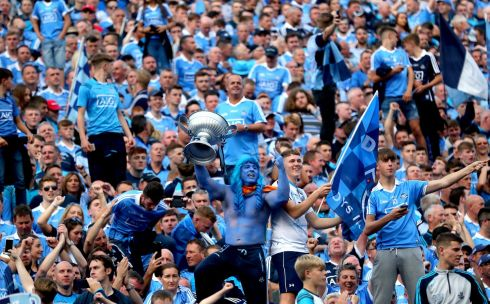 Dublin fans on Hill 16 Photo: INPHO/James Crombie