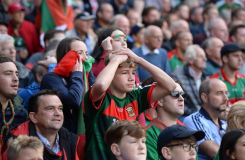 Dublin  Mayo  in the All Ireland senior football championship final at Croke Park, Dublin. Photograph: Dara Mac Donaill / The Irish Times