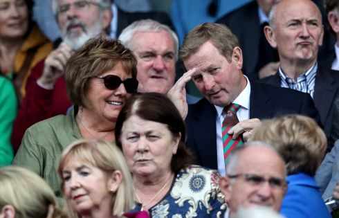 Former Taoiseach Enda Kenny with wife Fionnuala Photo: INPHO/Ryan Byrne