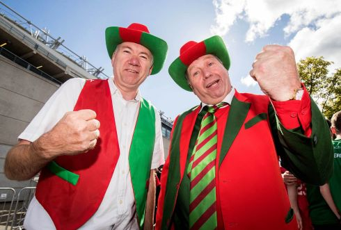 Mayo fans Péader and Peter Monaghan. Photograph: Oisín Keniry/Inpho