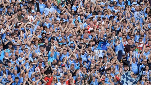 'Oh, but it's wonderful when your county triumphs. So they celebrated on the Hill and around the stadium and feted their heroes.' Photograph: Dara Mac Dónaill/The Irish Times