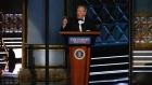 Spicer makes appearance during Emmys night filled with Trump ridicule