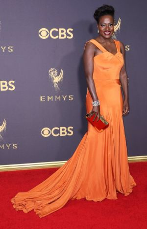 How to Get Away with Murder star Viola Davis in custom Zac Posen. Photograph: Jimmy Morris/EPA