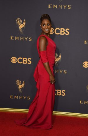 Issa Rae of Insecure wearing a custom Vera Wang Collection gown.  Photograph: Mark Ralston/AFP/Getty Images