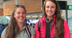 The Ireland women's pair of Aileen Crowley and Aifric KeoghKeogh prior to their departure for the World Rowing Championships in Florida.