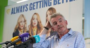 "Ryanair boss Michael O'Leary during a press conference in Dublin where he has admitted the cancellation of flights due to pilot holidays is ""a mess"". Photograph: Niall Carson/PA Wire"