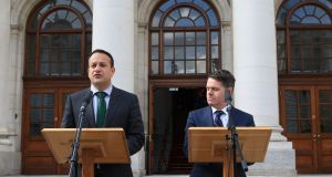 An Taoiseach Leo Varadkar and Minister for Public Expenditure Paschal Donohoe available. Photograph Nick Bradshaw